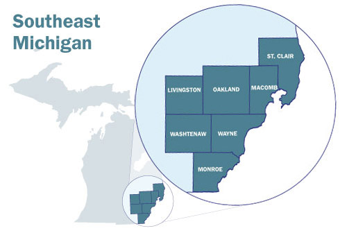 Map of SE Michigan